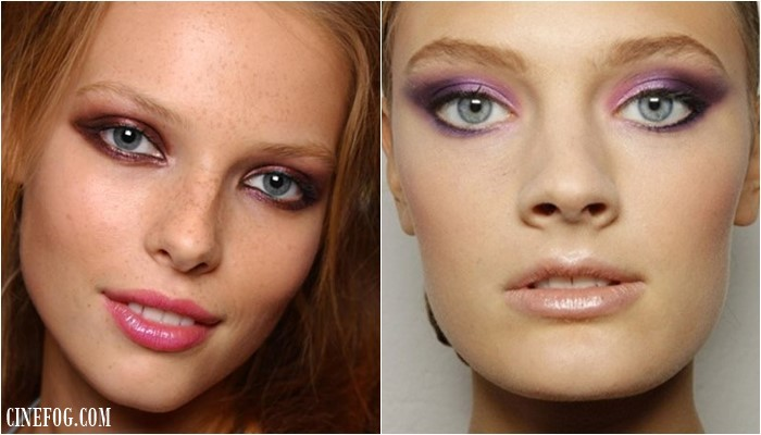 Eyeshadow Colors For Gray Eyes: purple and magenta