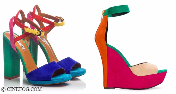 Designer Shoes 2017-2018 Fashion Trends: color block suede sandals