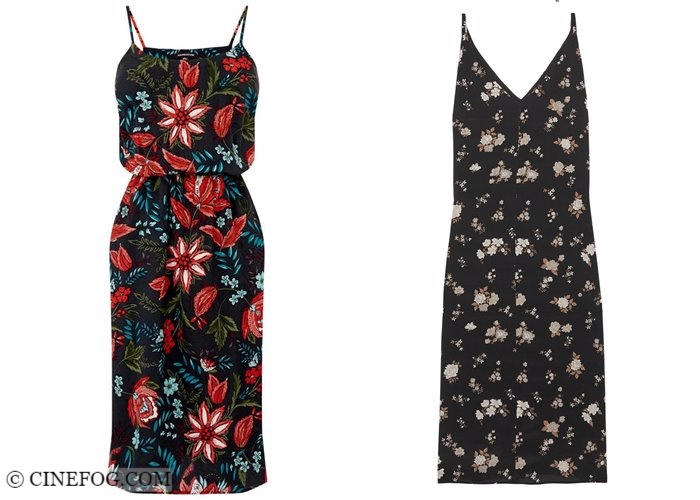 Floral dresses 2017-2018 fashion trends: spaghetti straps