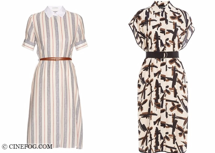 Shirt dresses 2017-2018 fashion trends: elegant printed with belts