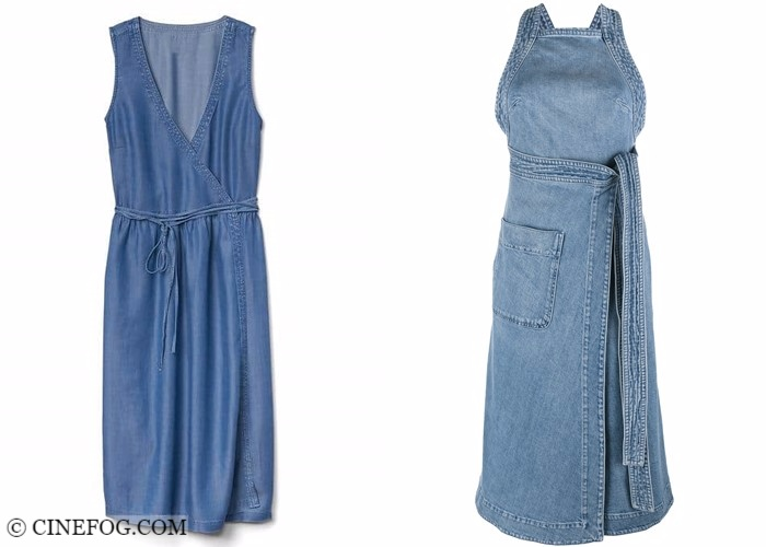 Wrap dresses 2017-2018 fashion trends: summer sleeveless denim