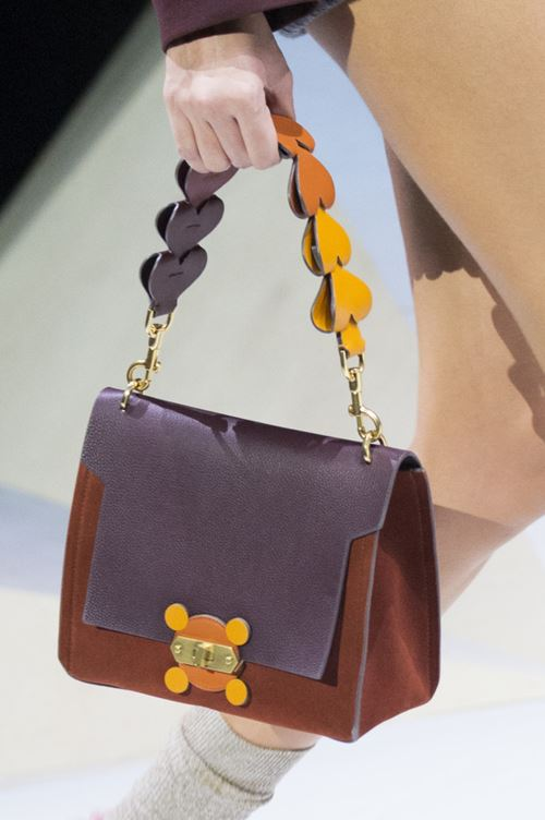 Anya Hindmarch handbags Fall/Winter 2017-2018: brown suede purse