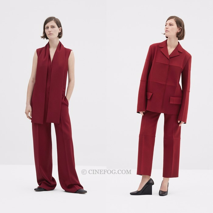 COS Fall/Winter 2017-2018 Collection Lookbook: carmine red pantsuits