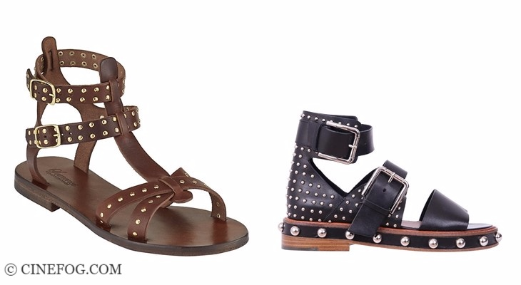 Designer sandals 2017-2018 fashion trends: studded flat roman sandals