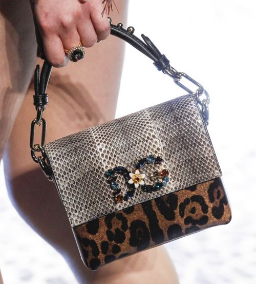 Dolce&Gabbana Handbags & Purses Fall/Winter 2017-2018: python and leopard print