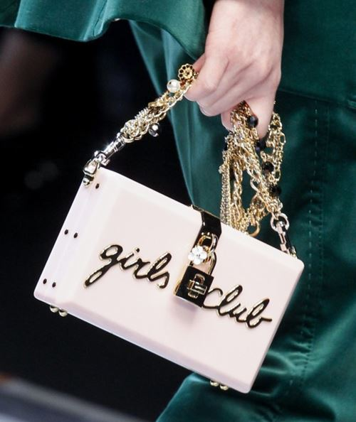 Dolce&Gabbana Handbags & Purses Fall/Winter 2017-2018: white box clutch with golden chain
