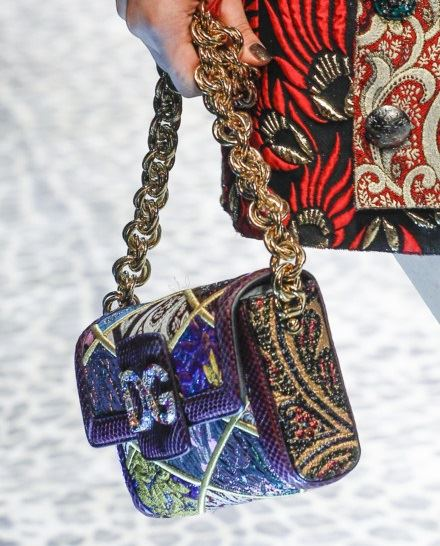 Dolce&Gabbana Handbags & Purses Fall/Winter 2017-2018: embellished small bag with bold chain handle