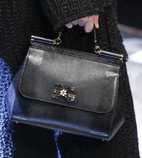 Dolce&Gabbana Handbags & Purses Fall/Winter 2017-2018: big black python leather