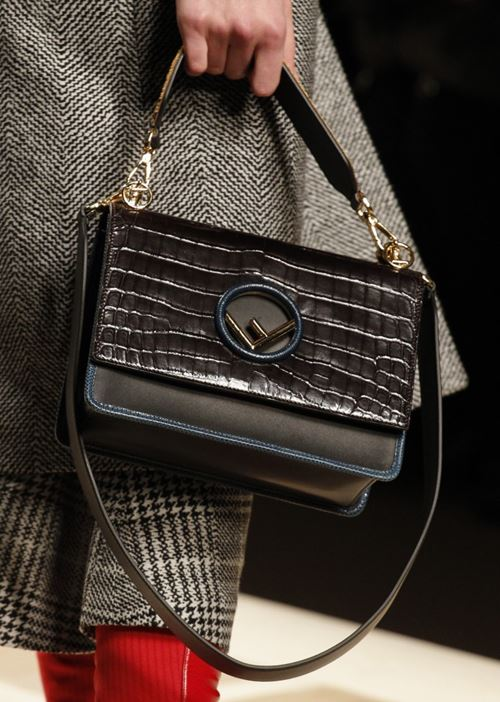 Fendi Handbags Fall/Winter 2017-2018: crodocile leather printed flap shoulder bag