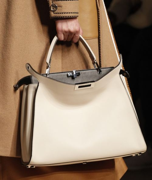 Fendi Handbags Fall/Winter 2017-2018: ivory 2Jours trapezoid