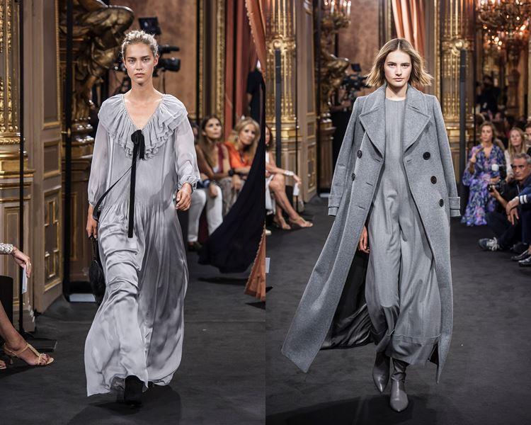 Massimo Dutti Fall/Winter 2017-2018: gray dress and long coat