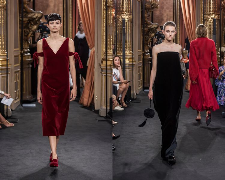 Massimo Dutti Fall/Winter 2017-2018: red and black velvet dresses