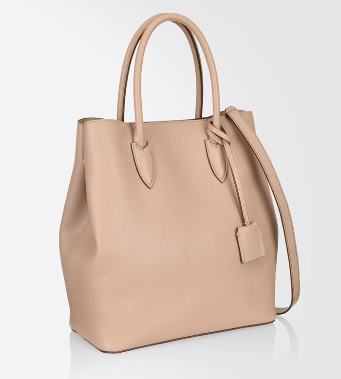 Max Mara Handbag Collection Fall/Winter 2017-2018: beige leather Cabat shopper bag