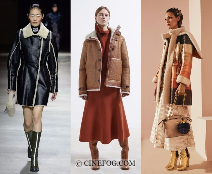 Outerwear Fall-Winter 2017-2018 Fashion Trends: shearling coats