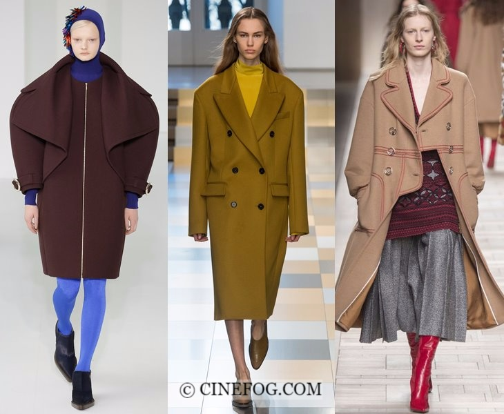 Outerwear Fall-Winter 2017-2018 Fashion Trends: wide shoulder coats