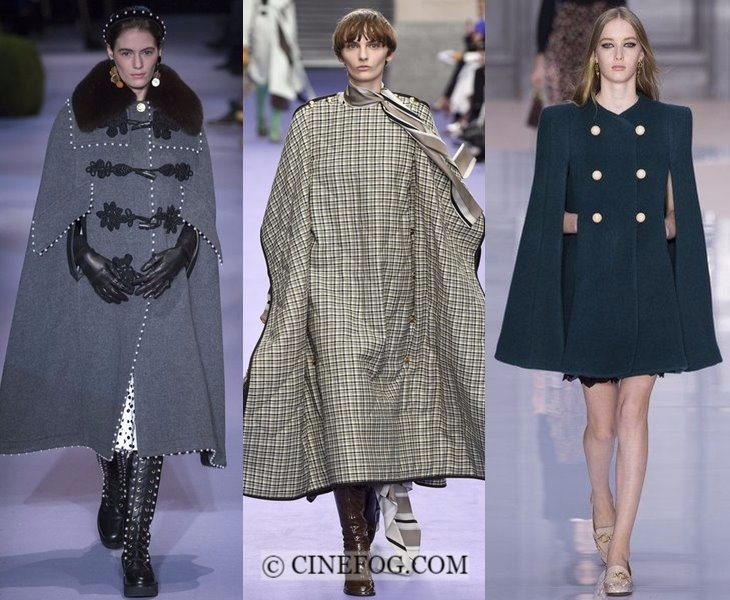 Outerwear Fall-Winter 2017-2018 Fashion Trends: gray and green cape coats