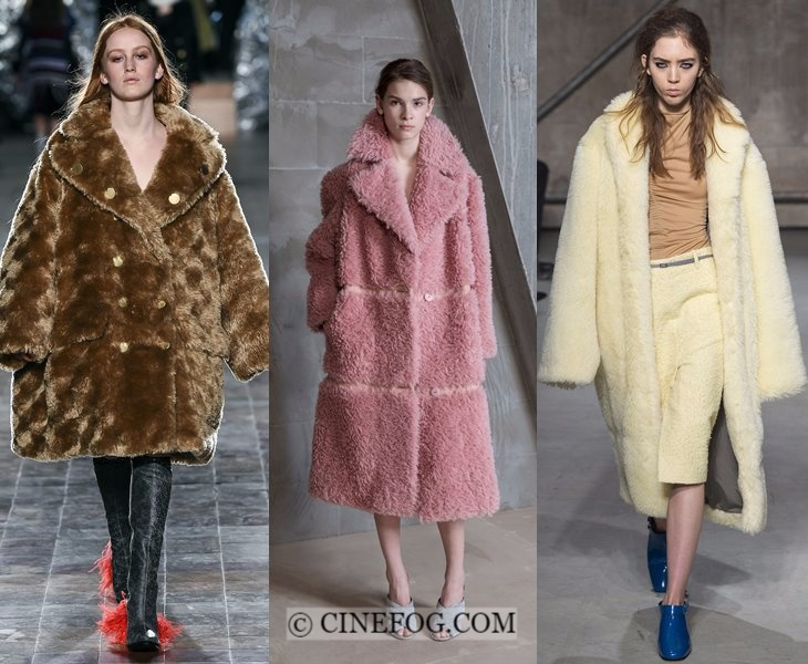 Outerwear Fall-Winter 2017-2018 Fashion Trends: faux fur oversized coats