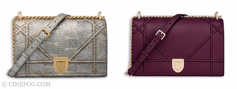 Christian Dior Handbags & Purses Fall/Winter 2017-2018: python and purple leather shoulder bags