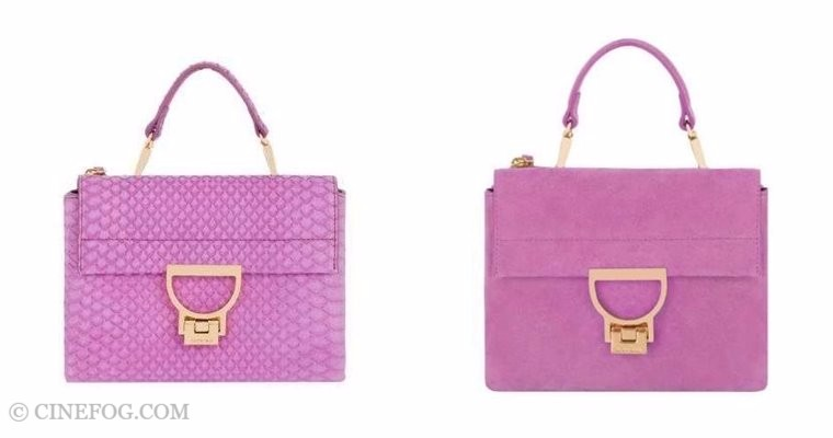 Coccinelle Handbags Fall/Winter 2017-2018: small pink purses, python leather and suede