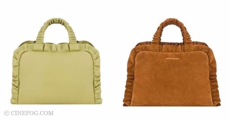 Coccinelle Handbags Fall/Winter 2017-2018: apple green and hot brown suede tote bags