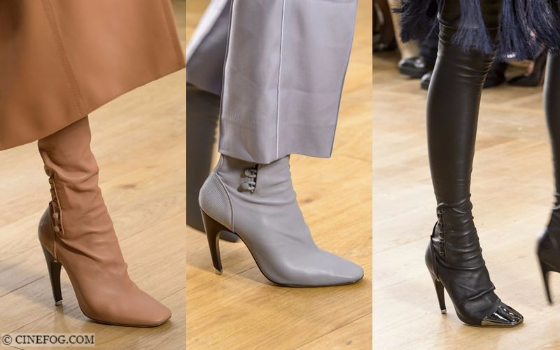 High Boots Fall/Winter 2017-2018 Fashion Trends: beige, gray and black elegant design with high-heels