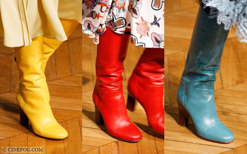High Boots Fall/Winter 2017-2018 Fashion Trends: yellow, red and blue leather boots