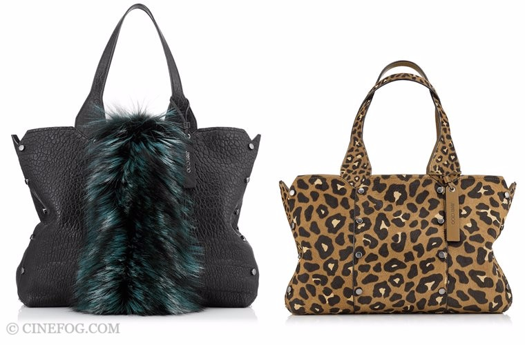 Jimmy Choo bags Fall/Winter 2017-2018: fur and leopard tote bags