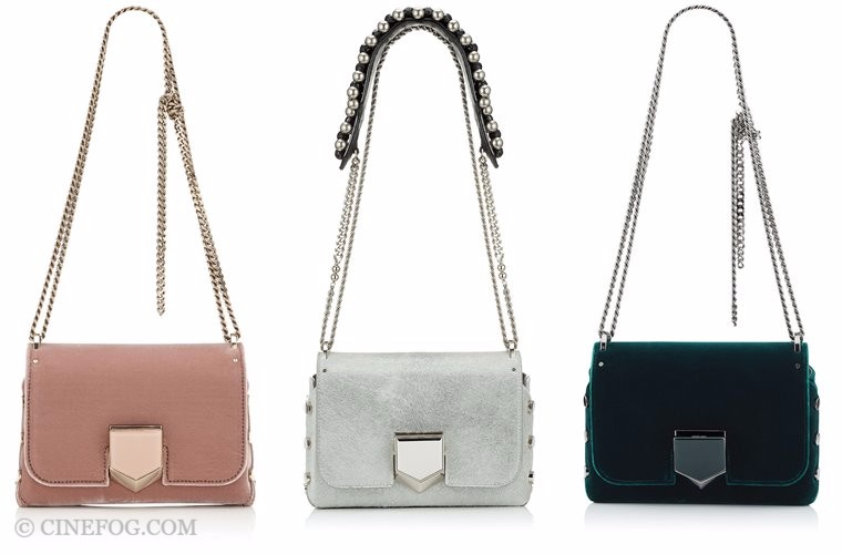 Jimmy Choo bags Fall/Winter 2017-2018: beige, gray and deep green shoulder bags