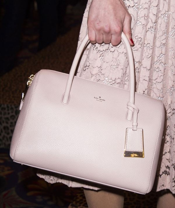 Kate Spade Handbags Fall/Winter 2017-2018: elegant powder pink leather satchel bag