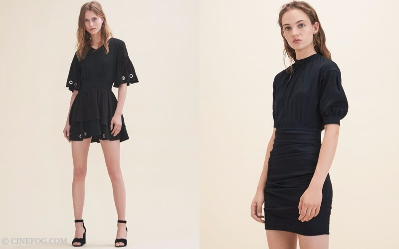 Maje Fall/Winter 2017-2018 Collection Lookbook: black fitted mini dresses