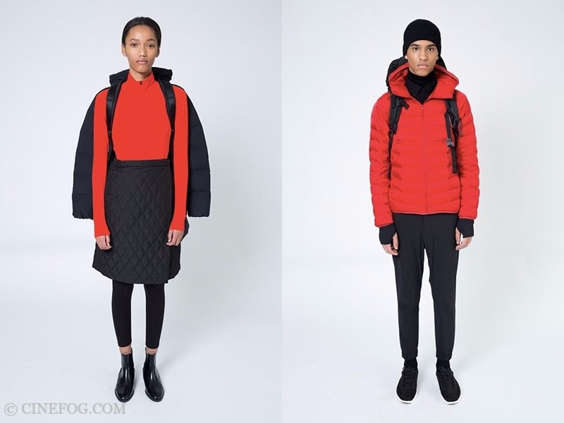 Uniqlo Fall/Winter 2017-2018 Collection Lookbook - black and red clothing