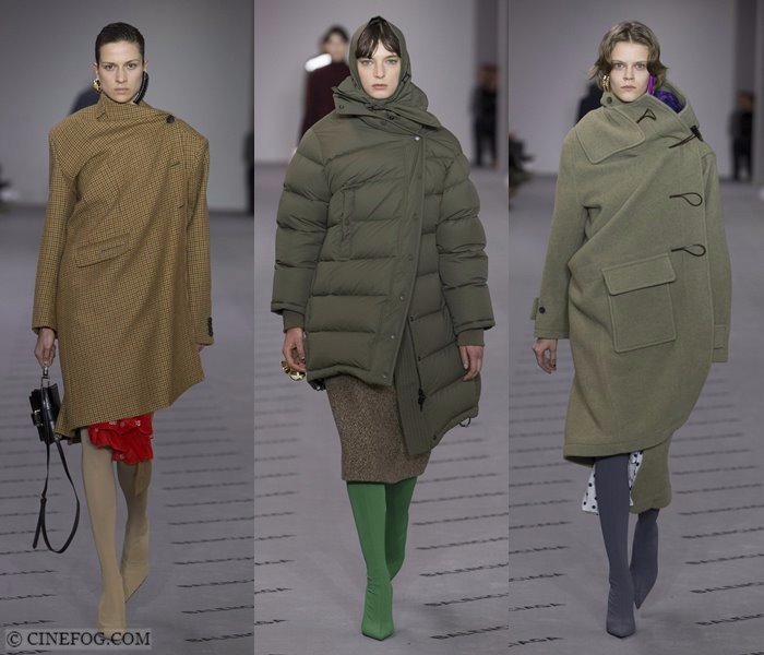Women's Coats Fall-Winter 2017-2018 Fashion Trends: asymmetric khaki coats