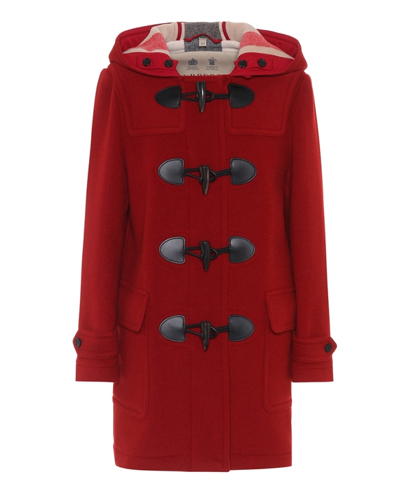 Trendy designer red coats 2018 - Burberry short wool-blend duffle coat