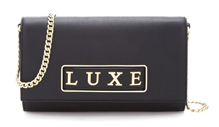 Guess Luxe Bag Collection Spring/Summer 2018 - Classic black leather shoulder clutch