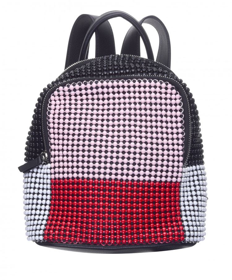 Topshop Bag Collection Spring/Summer 2018 - Black, pink and red beaded backpack