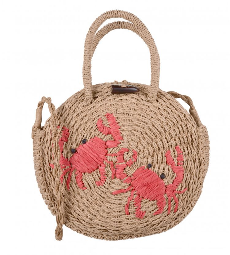 Topshop Bag Collection Spring/Summer 2018 - Round wicker embroidered shoulder bag