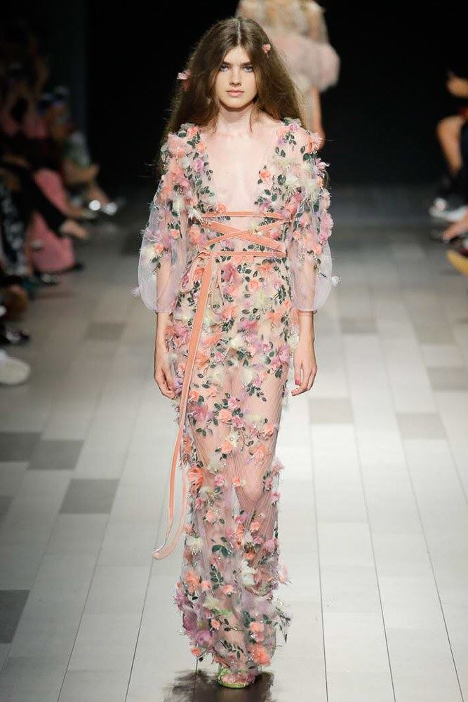 Floral Dresses Spring/Summer 2018 - Marchesa see-through floral maxi dress