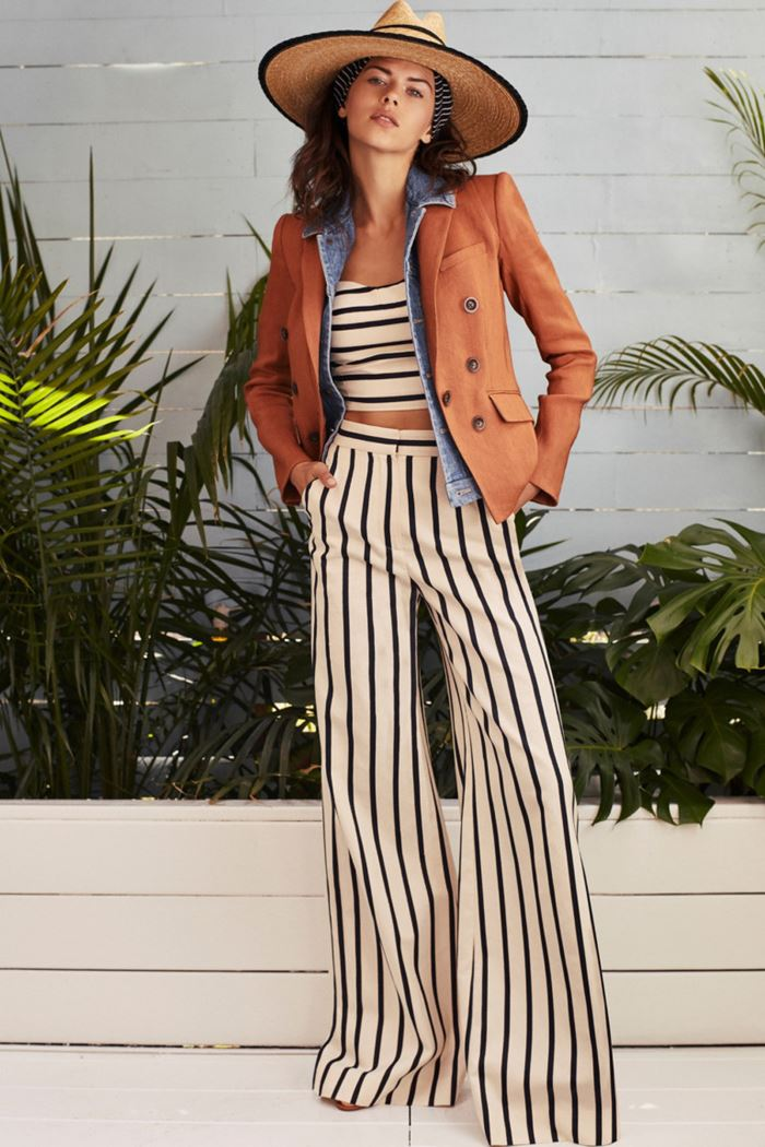 6f48d247d82 ... Wide palazzo pants Spring Summer 2018 - Veronica Beard striped flared  pants
