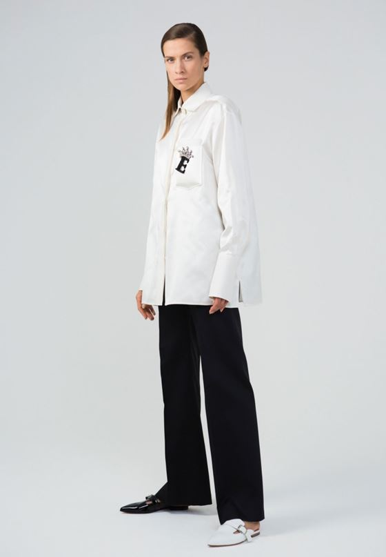 White Shirts & Blouses Spring/Summer 2018 Fashion Trends - Dice Kayek simple minimalist women's shirt